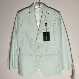 RALPH LAUREN**Green Striped Blazer 8R & 12R $118